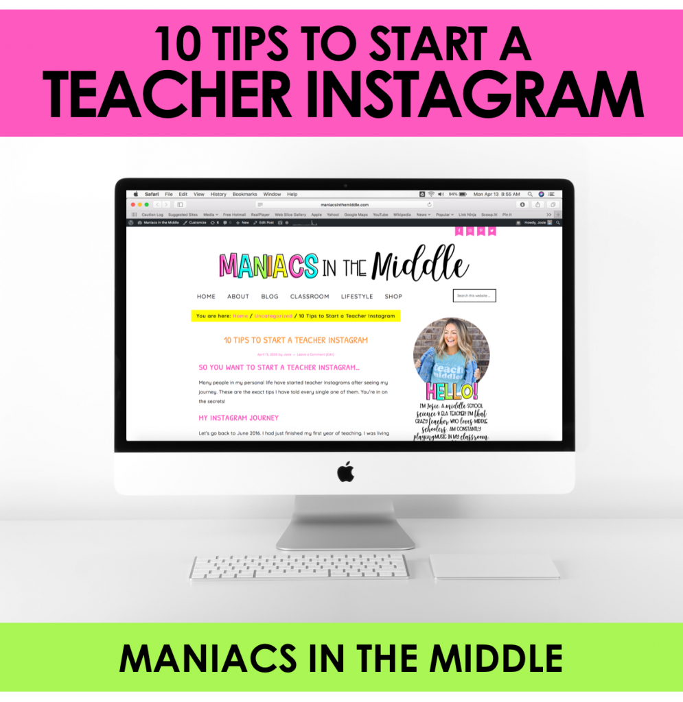 10 Tips to Start a Teacher Instagram